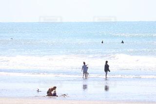 光輝く海の写真・画像素材[4035464]