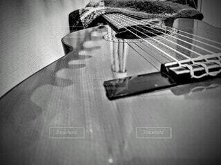 ギターのクローズアップの写真・画像素材[4045511]
