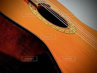 ギターのクローズアップの写真・画像素材[4045535]