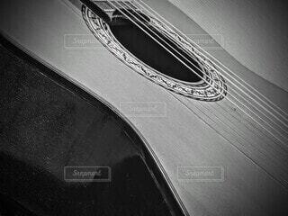 ギターのクローズアップの写真・画像素材[4045534]