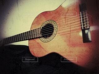 ギターのクローズアップの写真・画像素材[4057835]