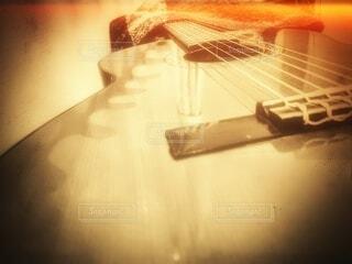 ギターのクローズアップの写真・画像素材[4057881]