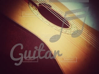 ギターのクローズアップの写真・画像素材[4058678]