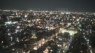 夜の街の写真・画像素材[4052575]