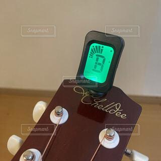 ギターチューニングの写真・画像素材[4042624]