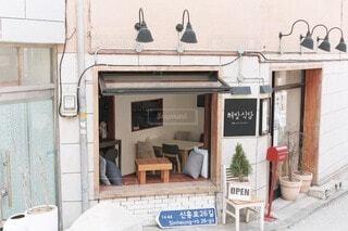 韓国カフェの写真・画像素材[4047446]