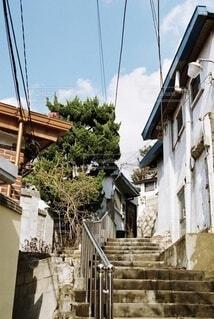 階段のある風景の写真・画像素材[4047449]