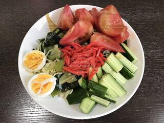 野菜たっぷり冷やし中華の写真・画像素材[4417863]