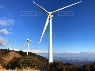 風力発電所の風車の写真・画像素材[1876124]