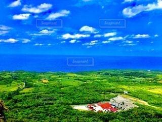広大な田畑の写真・画像素材[4054752]