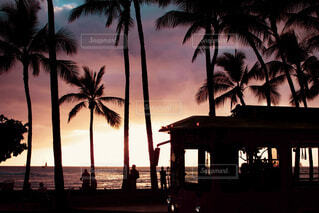 Magic hour Waikikiの写真・画像素材[4059078]