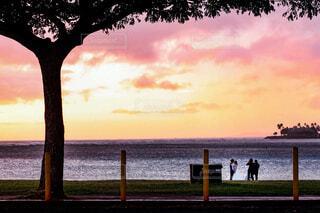 Wedding sunsetの写真・画像素材[4074711]