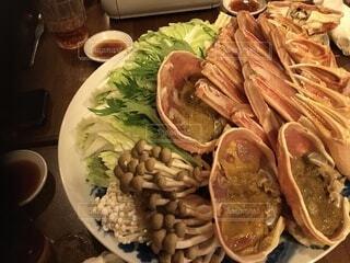 食べ物でいっぱいの皿の写真・画像素材[4060780]