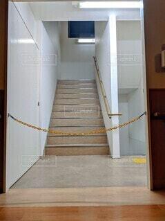 施設の非常階段です。の写真・画像素材[4073957]