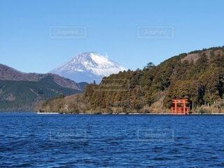 芦ノ湖と富士の写真・画像素材[4069675]
