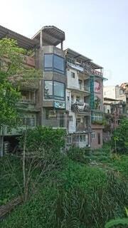 店と住居が混在する空間の写真・画像素材[4107156]