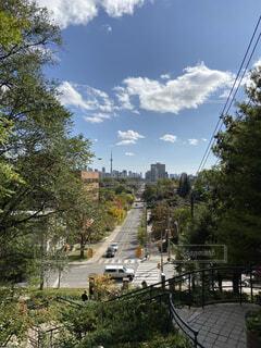 郊外から眺めるトロントの写真・画像素材[4067949]