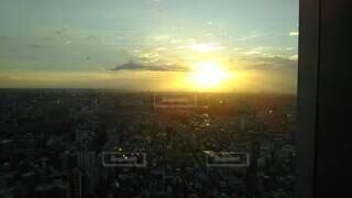 日没時の眺めの写真・画像素材[4069360]