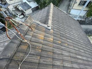 屋根。施工前のリアル画像。の写真・画像素材[4305219]