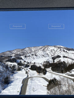 雪山と青空の写真・画像素材[4521672]