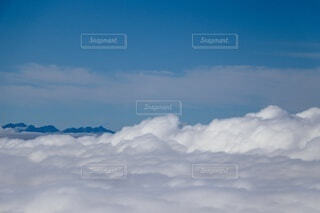 雲の上の景色の写真・画像素材[4076352]