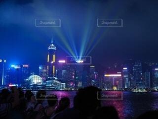 香港の夜景の写真・画像素材[4076362]
