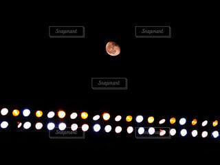 甲子園球場に現れた名月。の写真・画像素材[4074489]