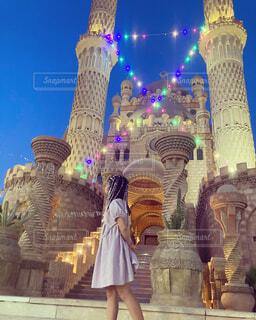 お城の前で...♡の写真・画像素材[4452748]