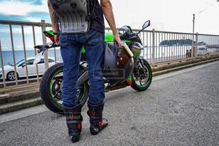 バイク ツーリング ライダーの写真・画像素材[4687808]