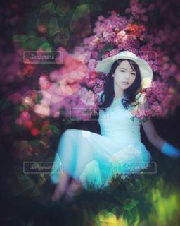 青いドレスの人の写真・画像素材[1289205]