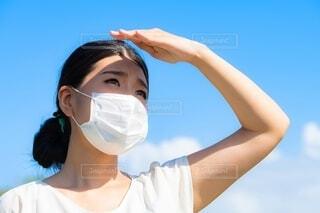 マスクをつけた女性の写真・画像素材[4643777]