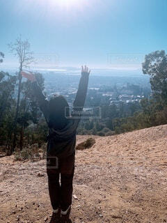 山頂からみえるカリフォルニアの景色の写真・画像素材[4154421]