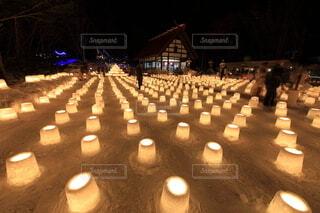 北海道札幌市定山渓 雪灯路(ゆきとうろ)の写真・画像素材[4119714]