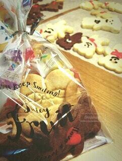 バレンタインクッキーの写真・画像素材[4202418]