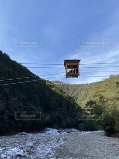 これぞ空中散歩!!お猿の籠屋はほいさっさ🎶の写真・画像素材[4134409]