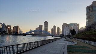 隅田川周辺のスカイラインの写真・画像素材[4164295]