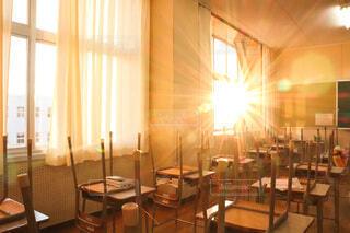 放課後の教室の写真・画像素材[4131576]