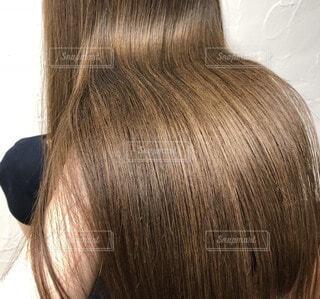 髪の毛のクローズアップの写真・画像素材[4818202]