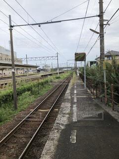 小さな駅の写真・画像素材[4139588]