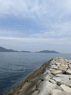 瀬戸内海の空と海の写真・画像素材[4137431]