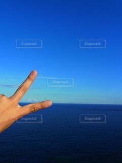 水平線の彼方の写真・画像素材[4138657]