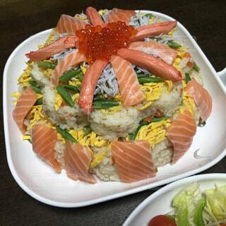 ちらし寿司ケーキの写真・画像素材[4170784]
