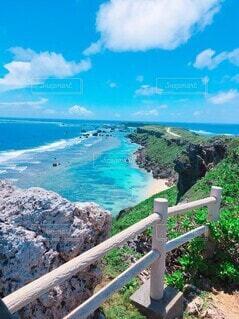 宮古島の海と陸の写真・画像素材[4146591]