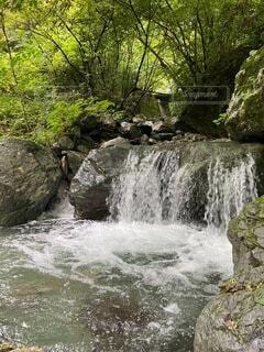 滝の流れの写真・画像素材[4145067]
