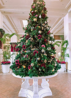 部屋のクリスマス ツリーの写真・画像素材[1689682]