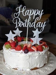 バースデーケーキの写真・画像素材[4338640]