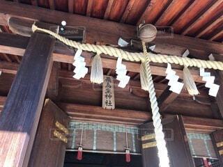 飛鳥坐神社にての写真・画像素材[4193622]