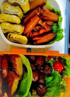肉と野菜盛りだくさん弁当の写真・画像素材[4157313]