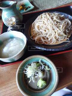 大根おろしと薬味のセットの蕎麦の写真・画像素材[4171118]