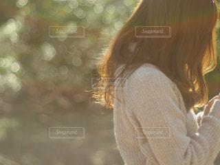 近くの人のアップの写真・画像素材[873381]